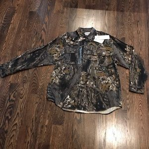 Columbia mossy oak break up button down size L